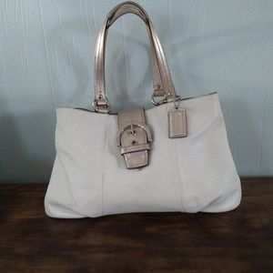 Coach whitebone tote